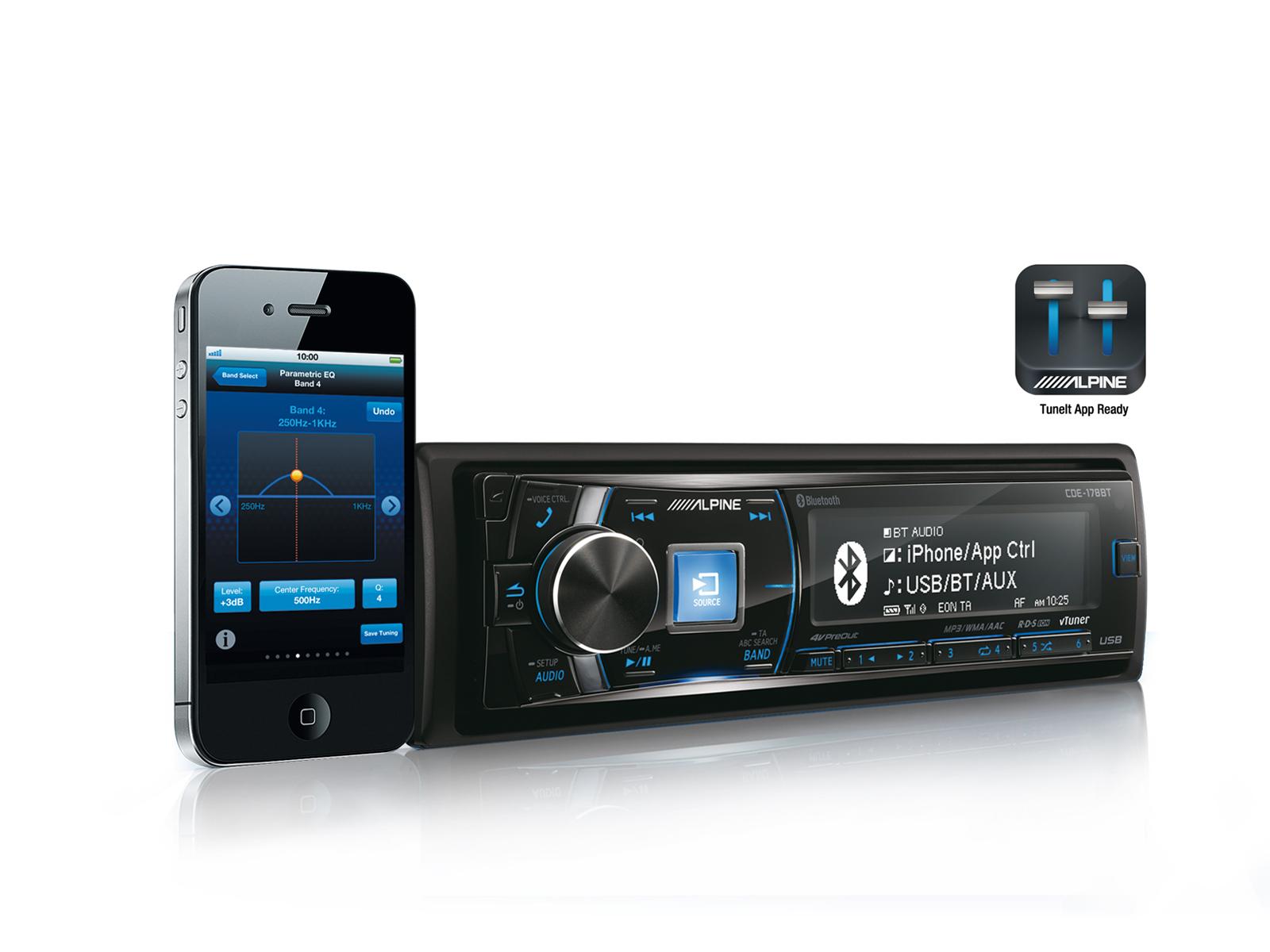 974c9d3e31a CD/USB vastuvõtja koos Bluetoothiga - Alpine - CDE-178BT