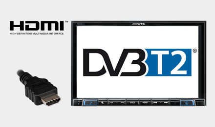 TUE-T220DV - Mobile Digital TV Receiver (DVB-T2) features HDMI output