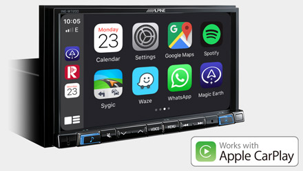 Works with Apple CarPlay - INE-W720D